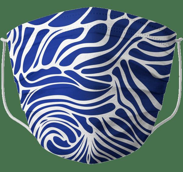 Mascherina barral onde blu adulto