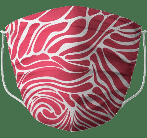 Mascherina barral onde rossa adulto
